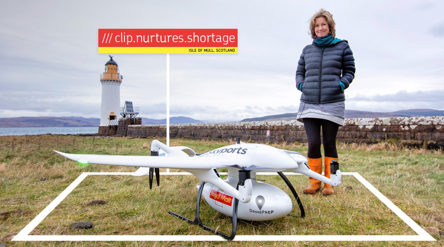 Royal Mail partners with DronePrep, Skyports and what3words to become first UK parcel carrier to use a drone to deliver a parcel