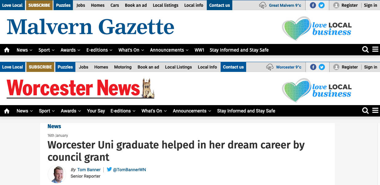 DronePrep in the news: Worcester Uni graduate helped in her dream career by council grant