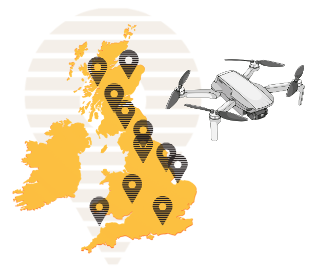 UK Drone Vector Map